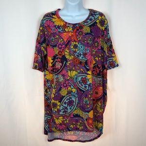 LuLaRoe paisley Irma shirt NWT S